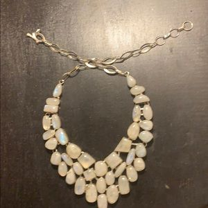 White stone necklace and bracelet